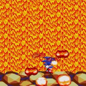 Heat Arms defeated sonic & Knuckles Sega Genesis Sega Mega drive