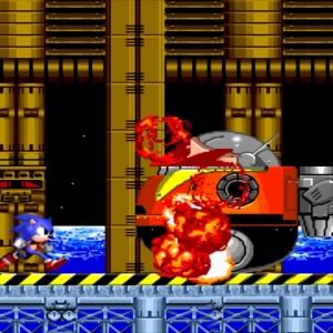 Death egg destroyed dr robotnik Dr Eggman Sega genesis Sega mega drive Sonic the Hedgehog 2