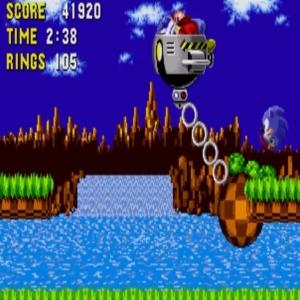 Sonic the Hedgehog 1Egg Mobile-H Sega genesis Sega mega drive