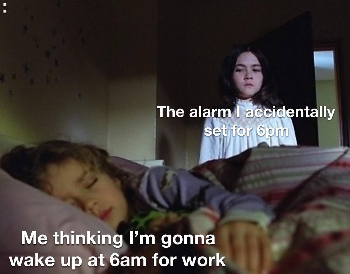 Memes Oversleeping being late for work