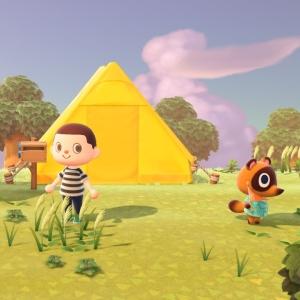 Animal crossing new Horizons yellow tent Timmy nook Nintendo Switch