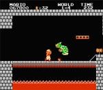 First bowser boss fight super Mario Bros nes Nintendo