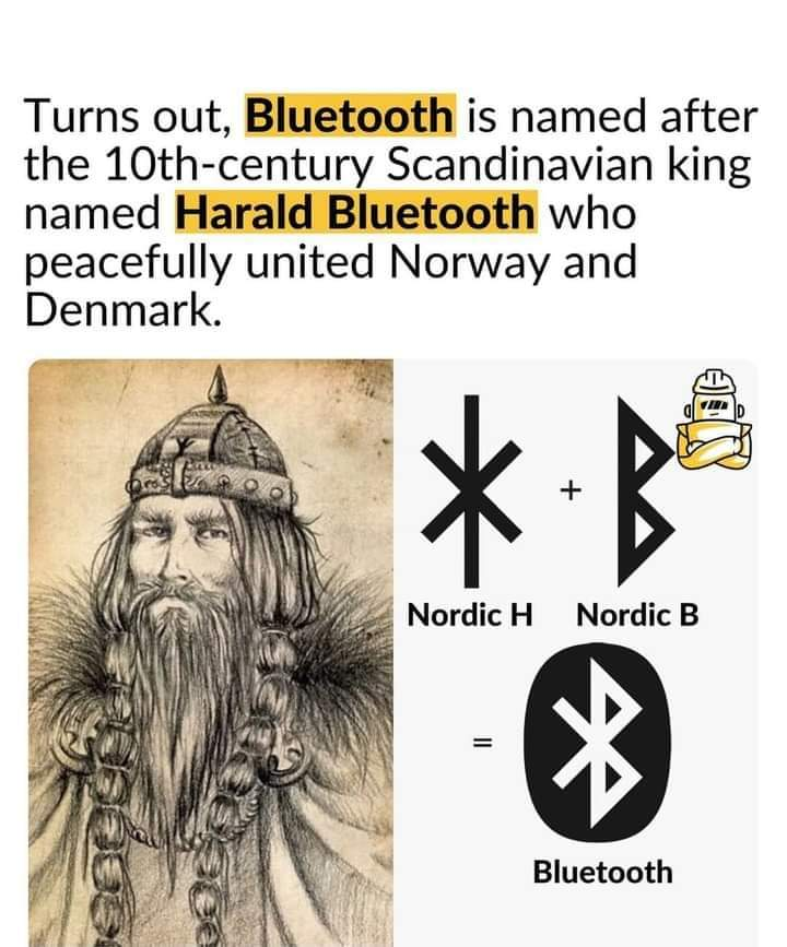 Memes Bluetooth etymology