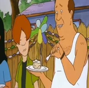King of the Hill bill Dauterive birthday party cake