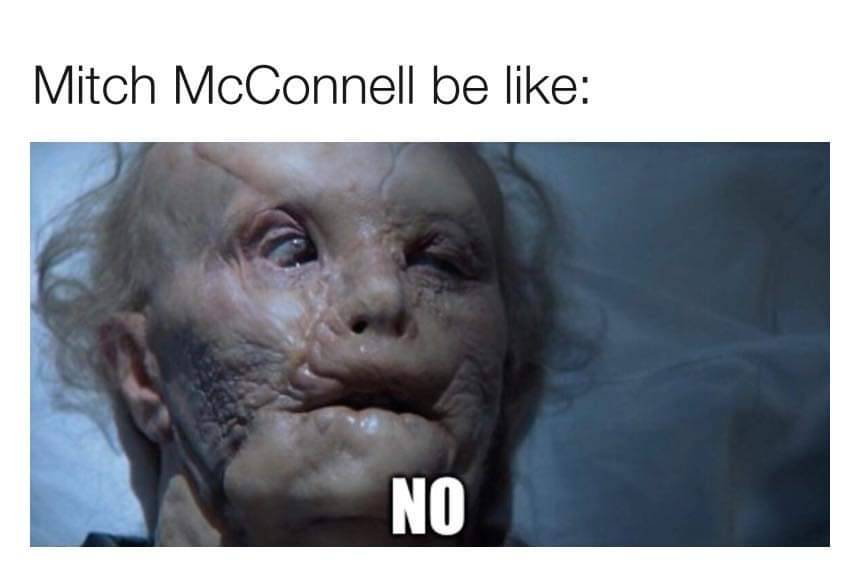 Memes Mitch McConnell saying no