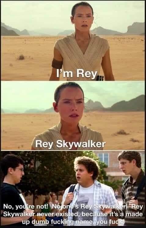 Memes Rey Skywalker is a made up name