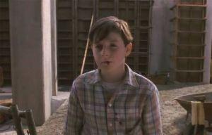 Kid Alan cut lip Jumanji 1995