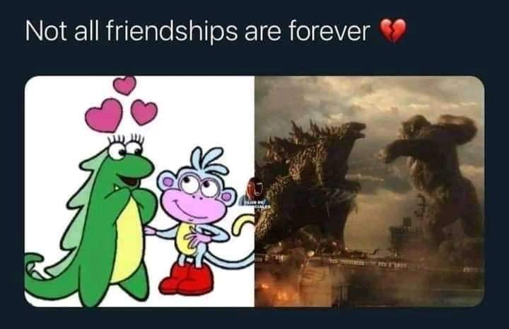 Memes Dora the explorer Godzilla versus King Kong