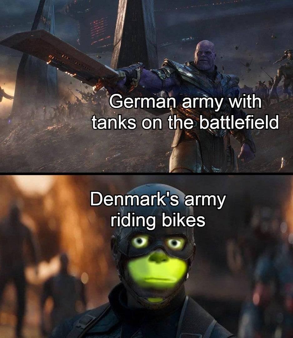 Memes World war two Germany versus Denmark