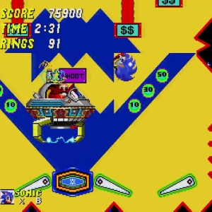 Sonic the Hedgehog 2 catcher Eggman Dr robotnik casino pinball Sega genesis Sega mega drive