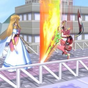 Pyra vs princess Zelda super Smash Bros ultimate Nintendo Switch