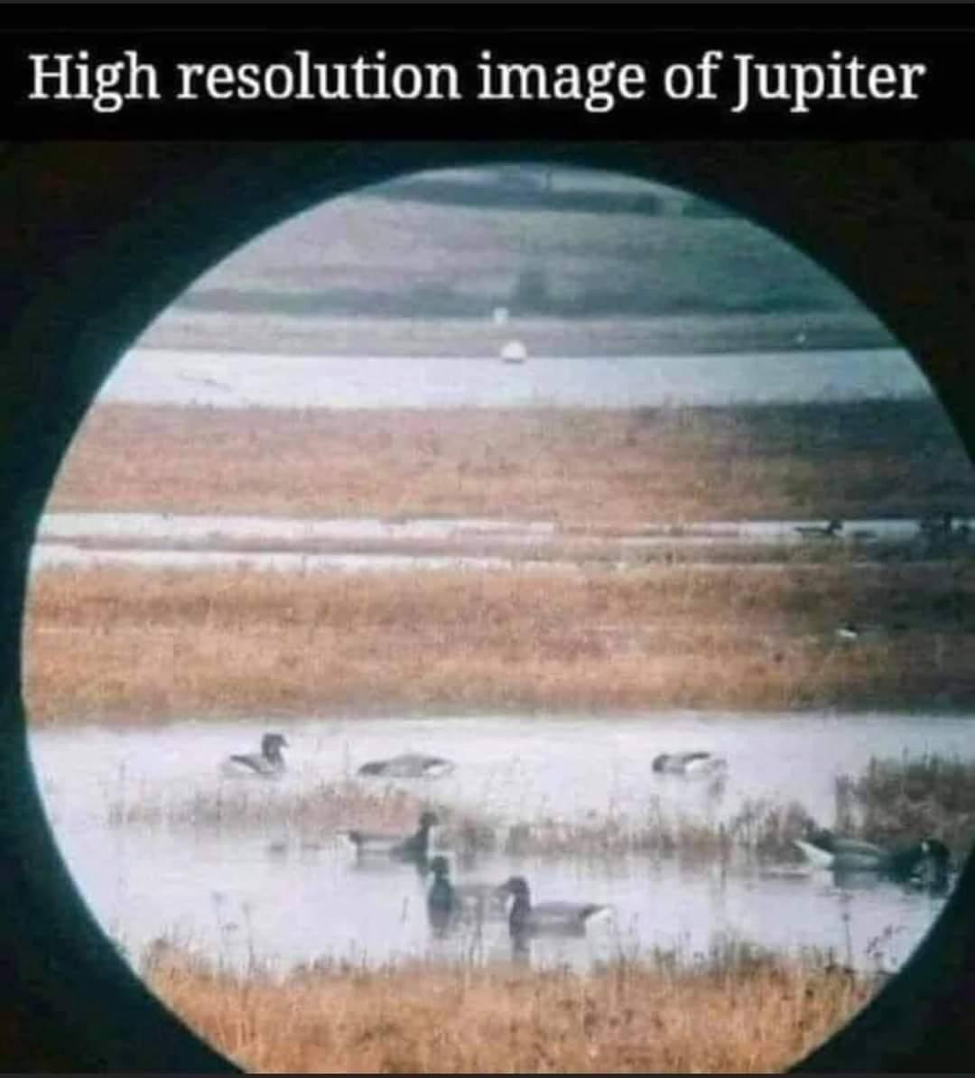 Memes Hi resolution of Jupiter