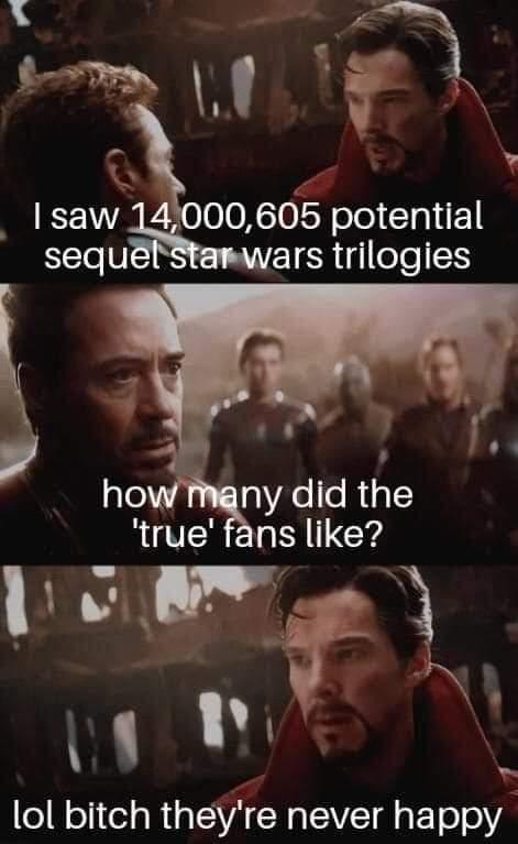Memes Unhappy Star Wars fans