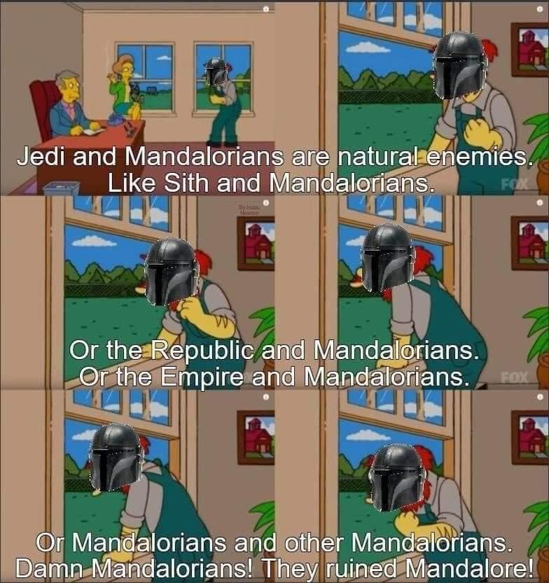 Memes The Mandalorian groundskeeper Willie