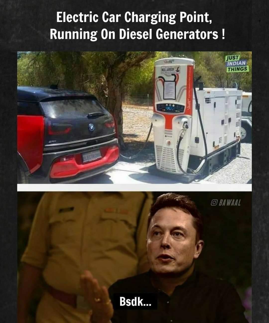 Memes Diesel generators electric cars