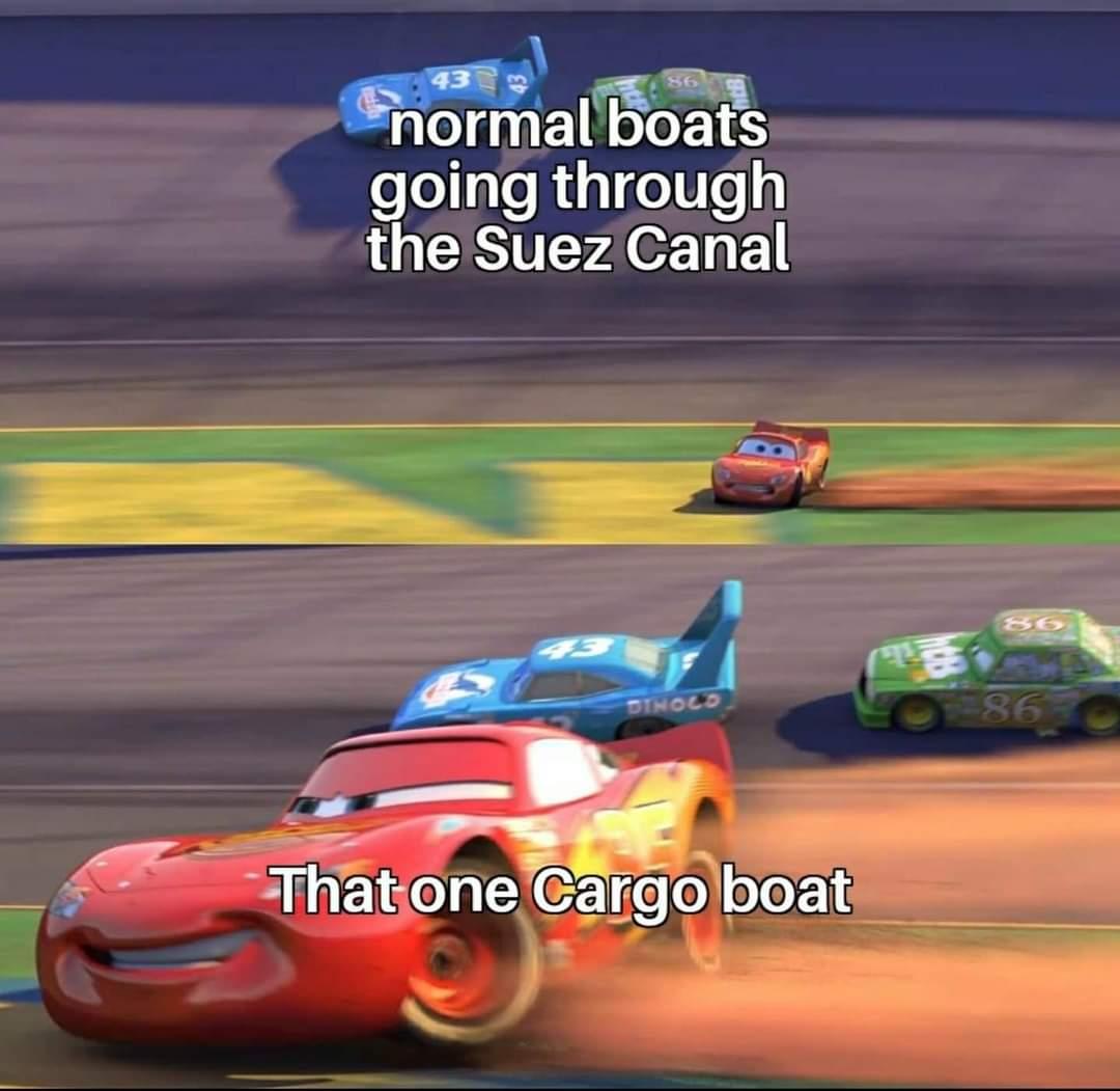 Memes Cargo boat Suez Canal