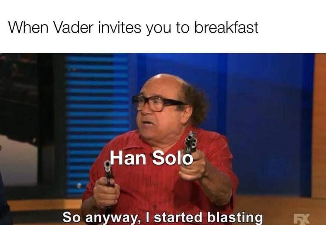 Memes Han Solo versus Darth Vader