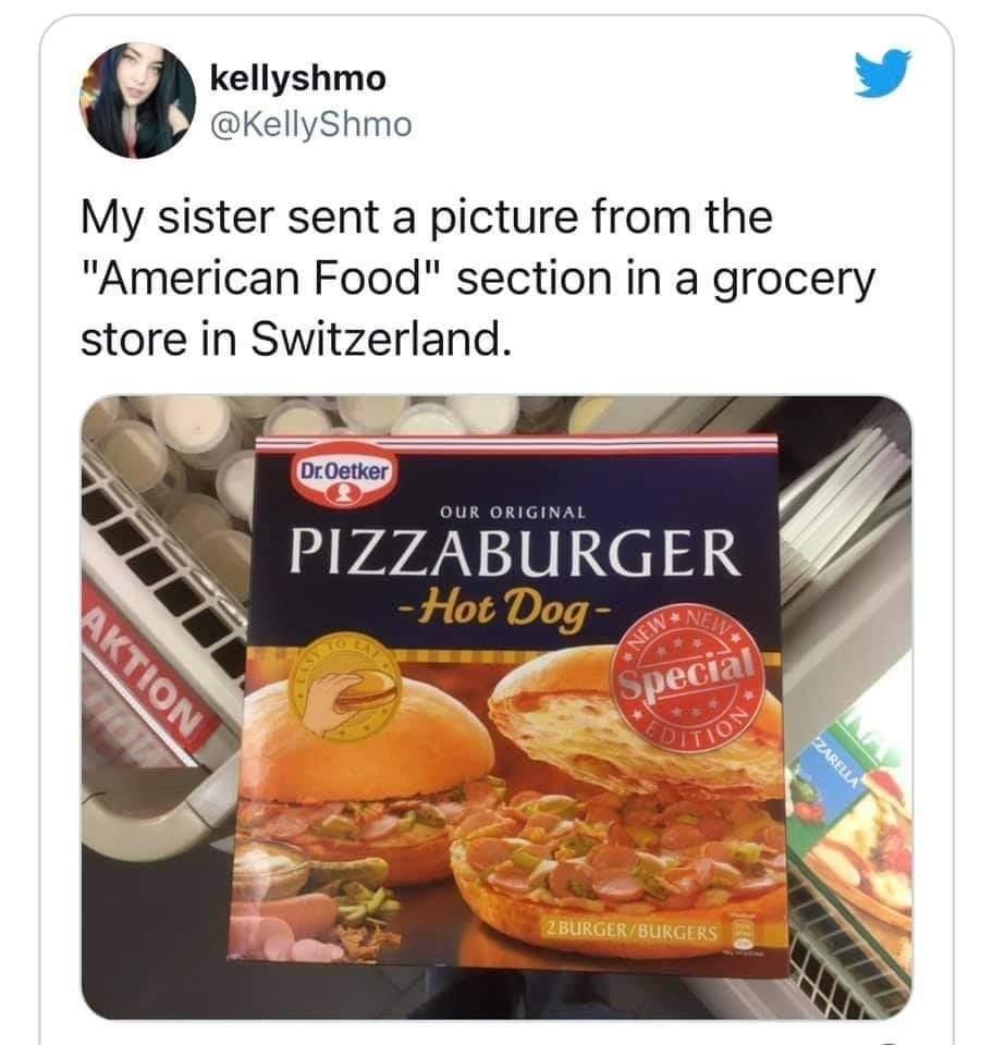 Memes American food section Switzerland