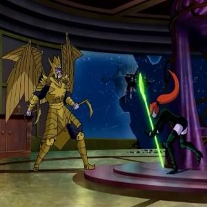 Laira vs golden dragon father Green Lantern: Emerald Knights dc comics
