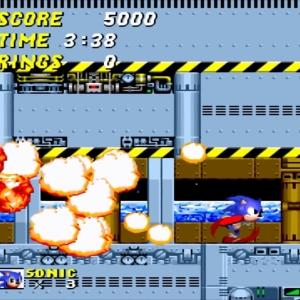 Sonic defeats Dr robotnik Sonic the Hedgehog 2 Sega genesis Sega mega drive