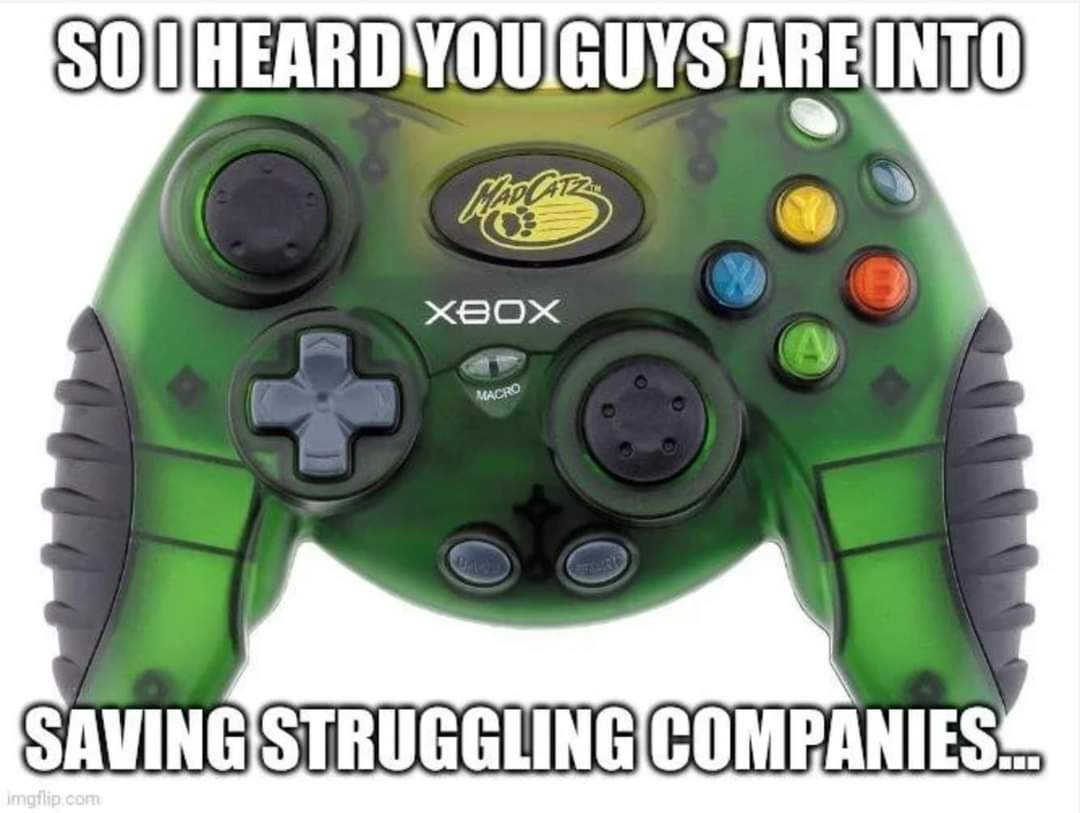 Memes The return of Mad Catz controller's