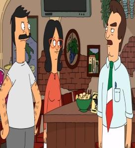 Bob Belcher and Linda vs Jimmy pesto Italian restaurant Bob's Burgers