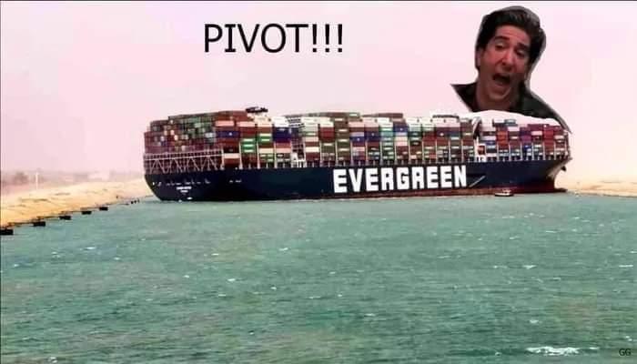 Memes Ross friends pivot Suez Canal