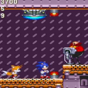 Barrier Eggman boss battle sonic & Knuckles Sega Genesis Sega Mega drive