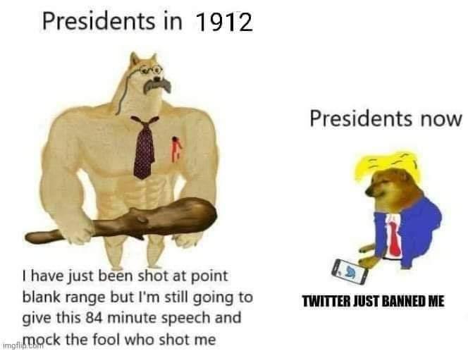 Memes Teddy Roosevelt versus Donald Trump