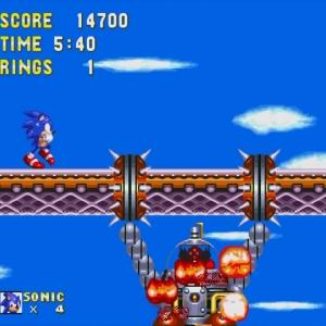 Hang Mobile defeated sonic & Knuckles Sega Genesis Sega Mega drive