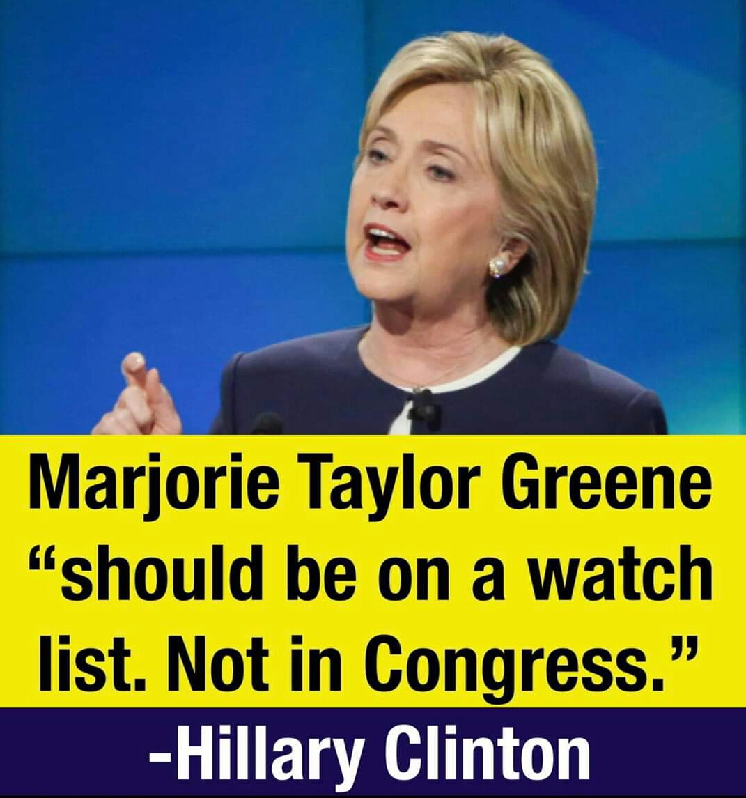 Memes Hillary Clinton versus Marjorie Taylor green