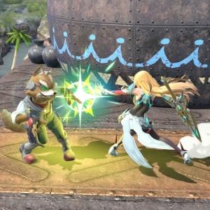 Mythra vs star fox super Smash Bros ultimate Nintendo Switch