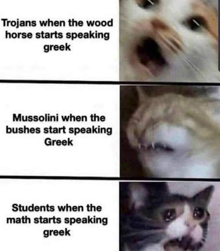 Memes When math starts speaking Greek