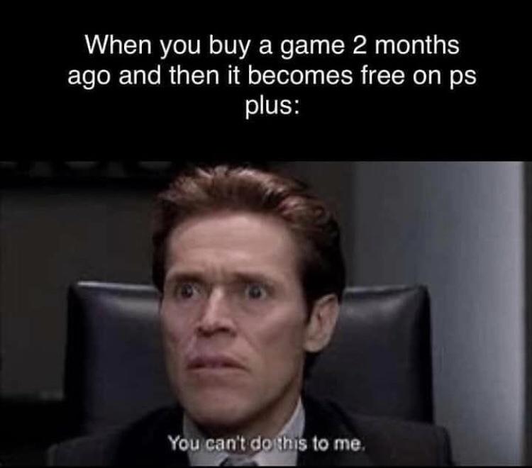Memes Play station plus