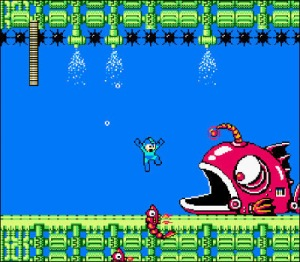 Mega man vs robot fish Mega man 2 nes Capcom