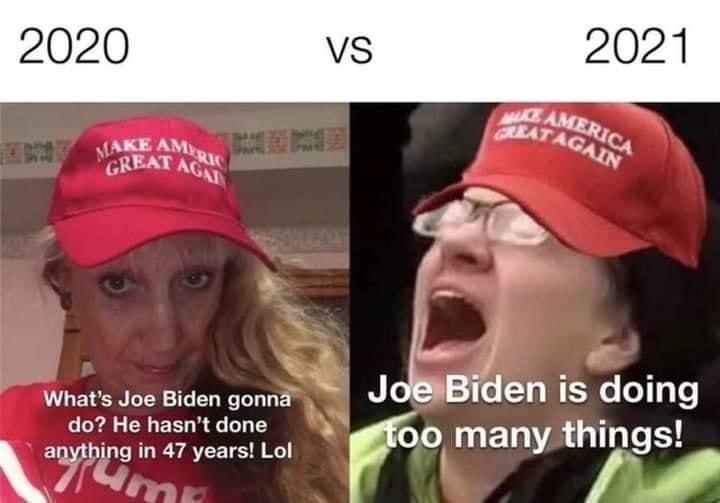Memes Donald Trump supporters crying over Joe Biden
