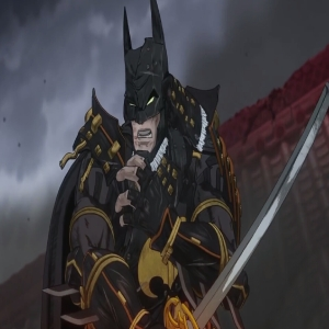 Bruce Wayne batman as a samurai with katana sword batman ninja dc comics
