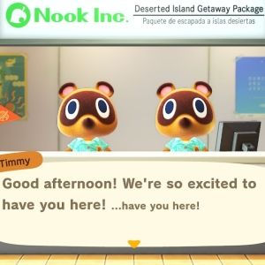 Timmy and Tommy nook animal crossing New Horizons airport agents Nintendo Switch