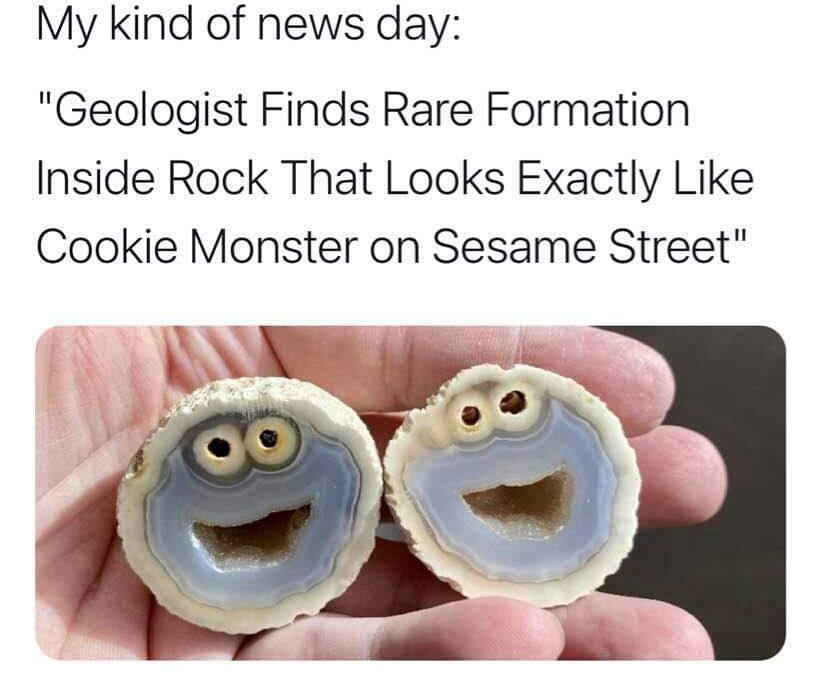 Memes Cookie monster rock