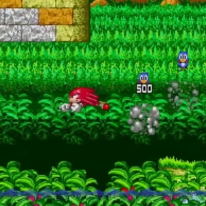 Sonic the Hedgehog 2 knuckles flying gliding Sega genesis Sega mega drive