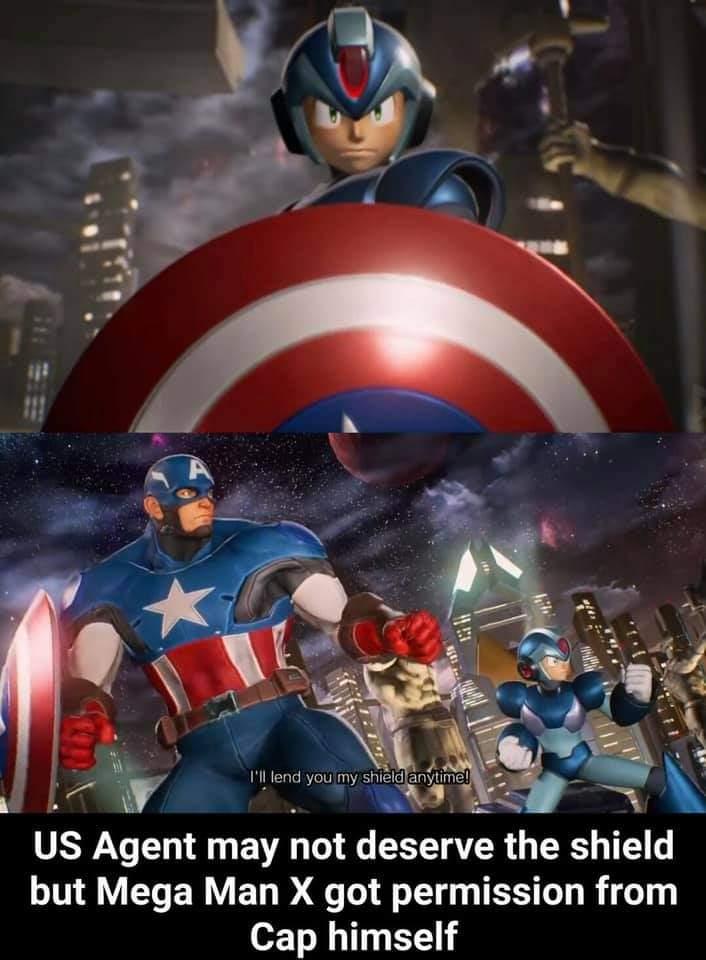 Memes Mega Man X captain America