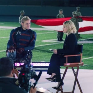 John Walker interview with Sarah Haines Captain America the Falcon and the Winter Soldier Disney+ Wyatt Russell