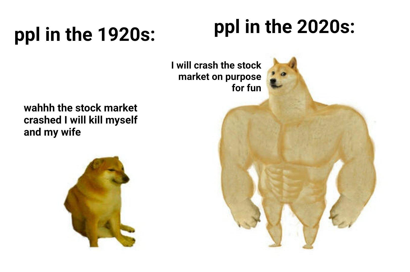 Memes Stock market crash