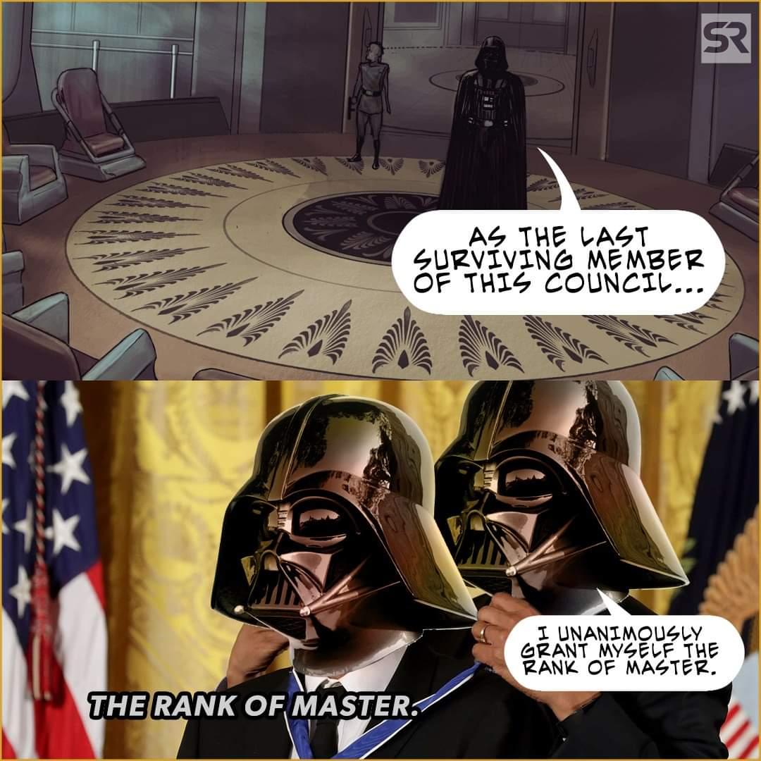 Memes Star Wars Darth Vader the rank of master Jedi Council