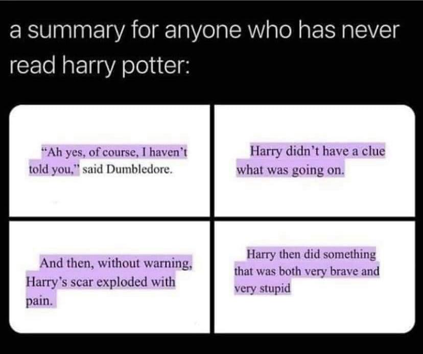 Memes Harry potter books explained
