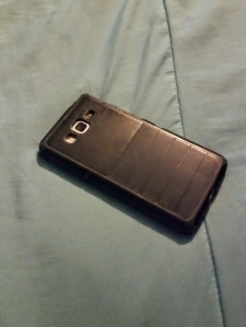 Black Samsung grand prime smartphone Walmart family mobile