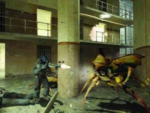 Prison guard vs giant bug half life 2 Microsoft Xbox valve