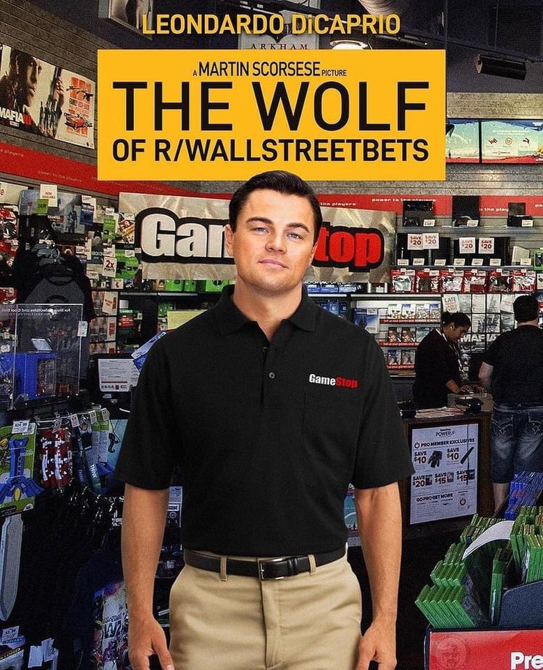 Memes The wolf of wall St., GameStop