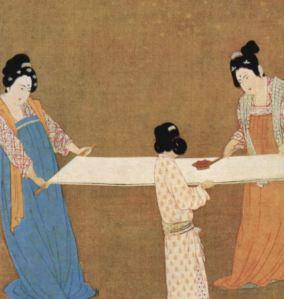 Chinese art silk making in China