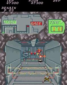 Front view stage Contra Konami arcade version
